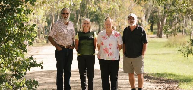 Members of the Heyfield wetlands committee on site