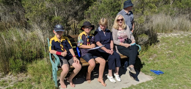 2019_GPC_Bairnsdale Scouts In the Bairnsdale Scout group photo there's (left to right) Jack Hebbard (8), Bryce Mullens (10), Carol Mullens, Judy Hird and Bruce Hird. + me (Mat Steph